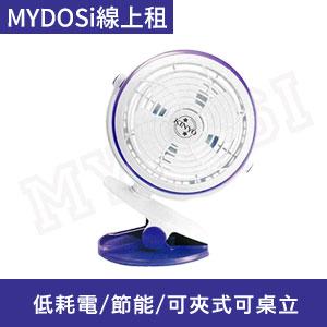 (出清)KINYO 夾立二用USB風扇